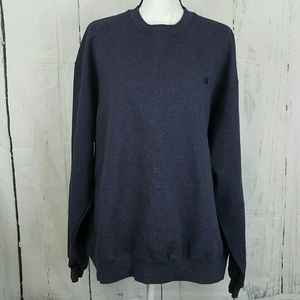 Champion ECO Blue Cotton Long Sleeve Sweater XXL